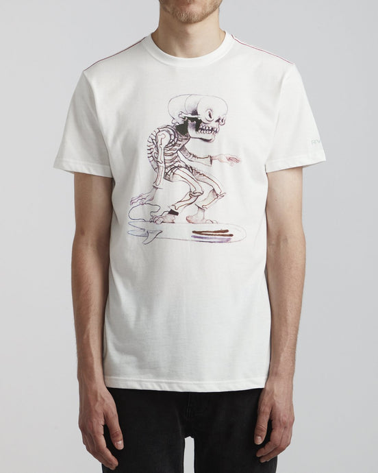 Rvca Skull Surfer Short Sleeve T-Shirt