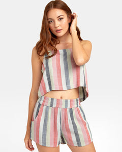 Rvca Logan Stripe Top