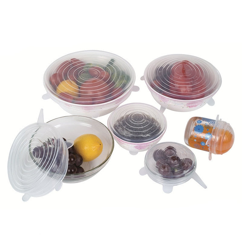 Silicon Stretch Lids Food Wrap (6PCS)