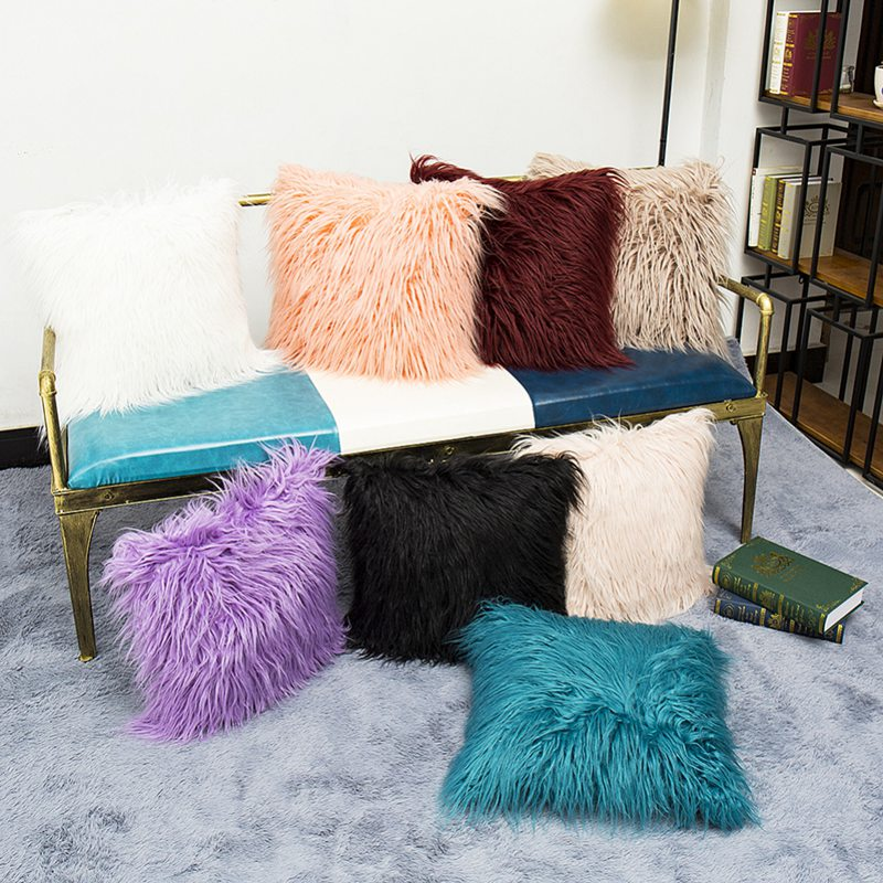 Fluffy Throw Pillow Covers