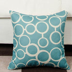 Blue Geometric Pattern Pillow Covers