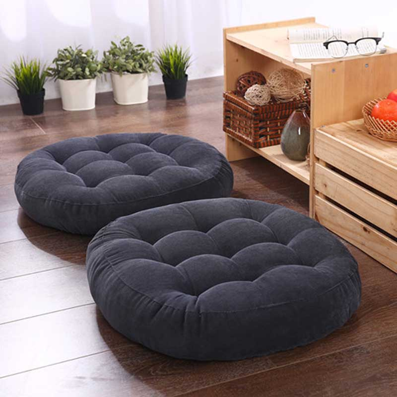 Round Corduroy Meditation Floor Cushion