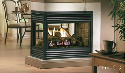 DIRECT VENT MULTI-SIDED SEE-THROUGH FIREPLACE
