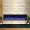 65″ Wide and Extra Slim Indoor or Outdoor  Built-in only Electric Fireplace with black steel surround