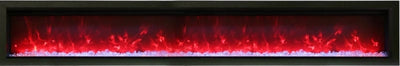88″ wide, basic, built-in with glass & black steel surround
