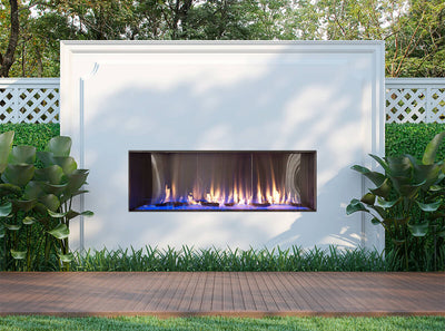Flare Vent Free Front Facing Outdoor Fireplace