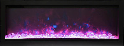 42″ wide, basic, built-in with glass and black steel surround