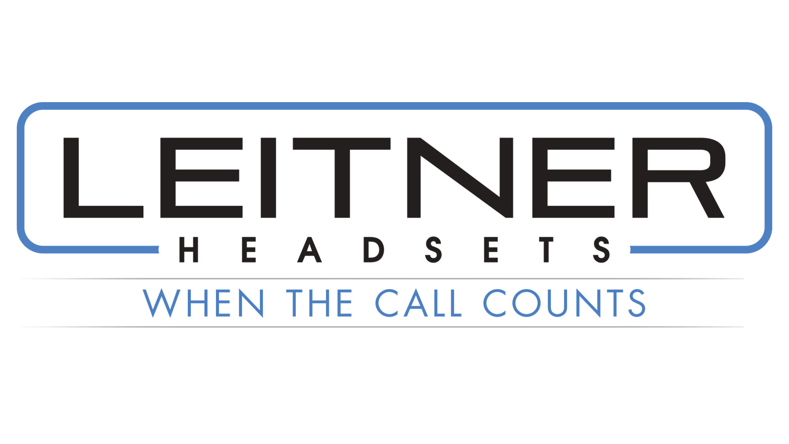 Leitner Headsets Logo - When The Call Counts
