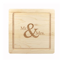 Load image into Gallery viewer, Mr. & Mrs. Cutting Board