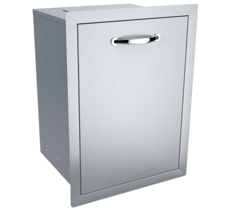 "20"" Enclosed Trash Drawer w/Trash Bag Ring & Top Punch-Out for counter trash chute"