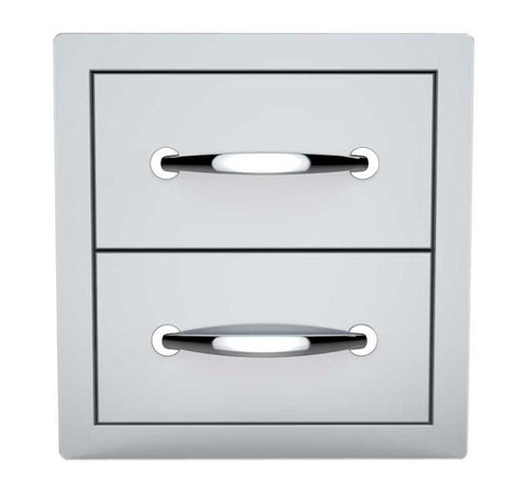 "14"" Flush Double Access Drawer"