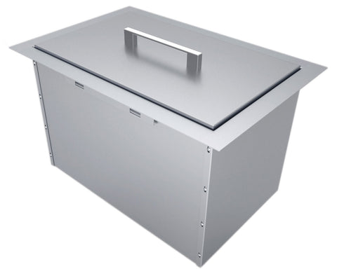 "Over/Under 14"" x 12"" Height Single Basin Insulated Wall Ice Chest w/Cover"