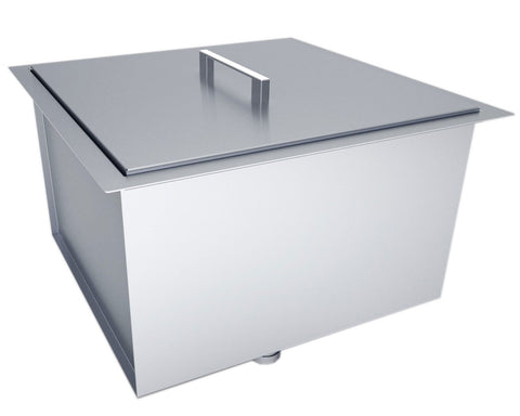 "Over/Under 20"" x 12"" Height Single Basin Sink w/Cover,  (1) Sink Drains"