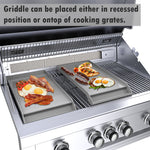 "Sunstone 10"" Wide Griddle with Oil Reservoir (Works with Ruby Series Grills, SUN13CPRO & SUNCHSZ30IR)"