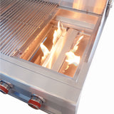 "Ruby 30"" 3 Burner Pro-Sear w/LED Lights, High Heat Searing Grate Natural Gas"