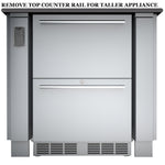 "34"" Sunstone Appliance Cabinet for up to 25"" Wide Fridge"