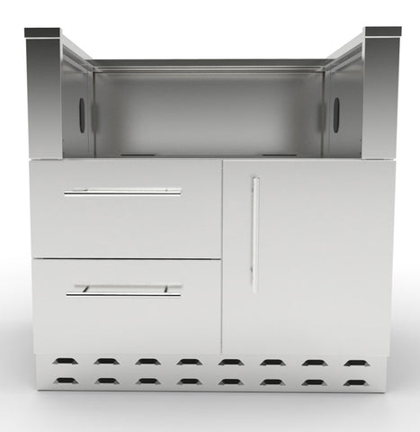 "34"" Sunstone Charcoal Grill Base Cabinet"