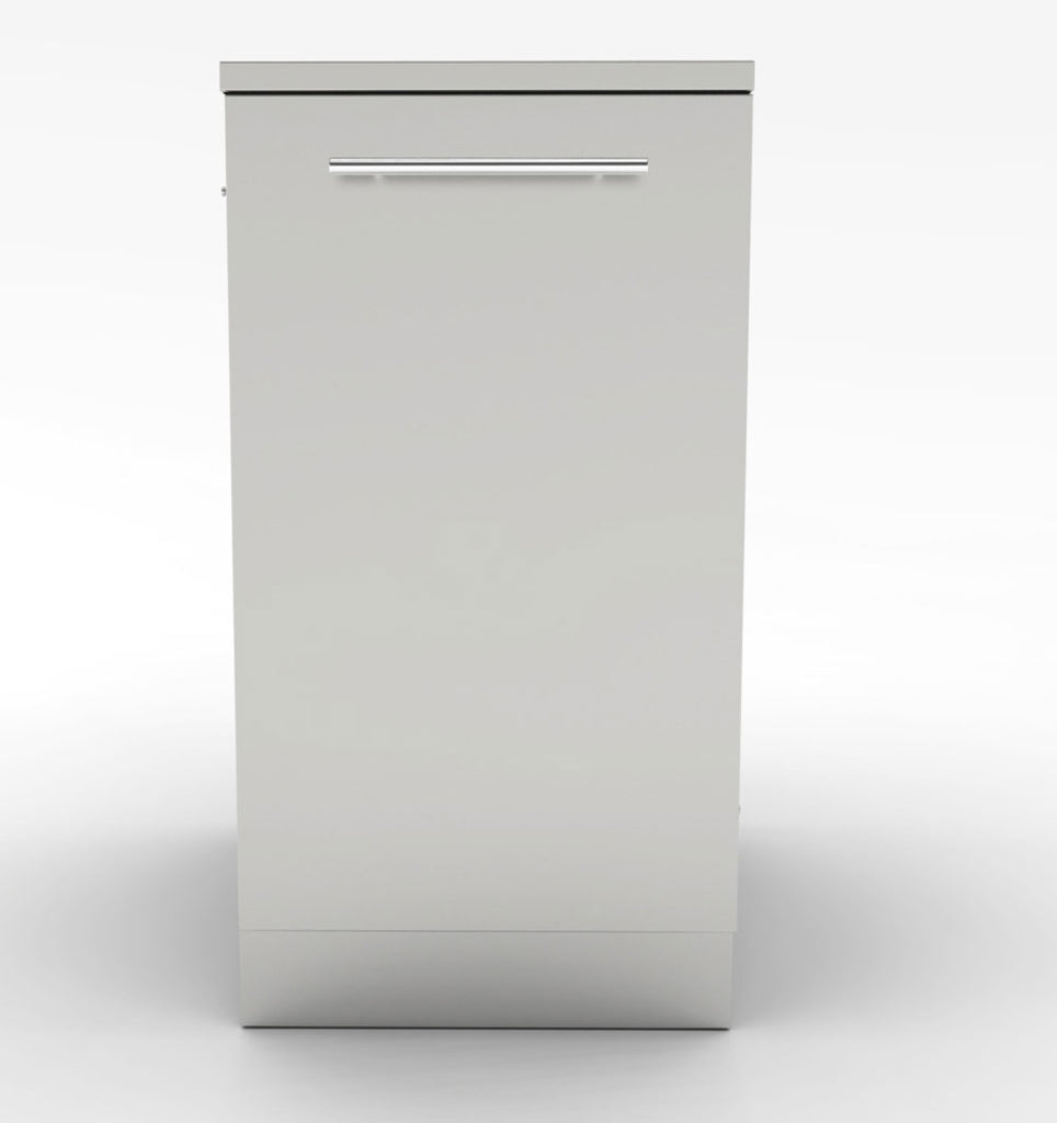 "18""  Trash Drawer Cabinet w/Two Front to Back Trash Bins"