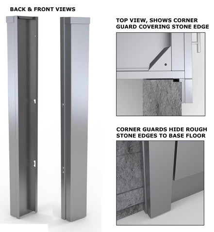 "3"" End Corner Guard Panel for Left Side of Base Cabinets"