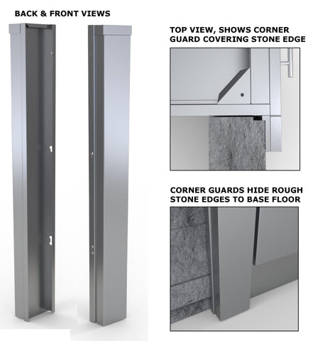 "3"" End Corner Guard Panel for Right Side of Base Cabinets"