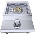 "Ruby Series 13"" Counter-top or Drop-in Versa Single Burner Natural Gas"