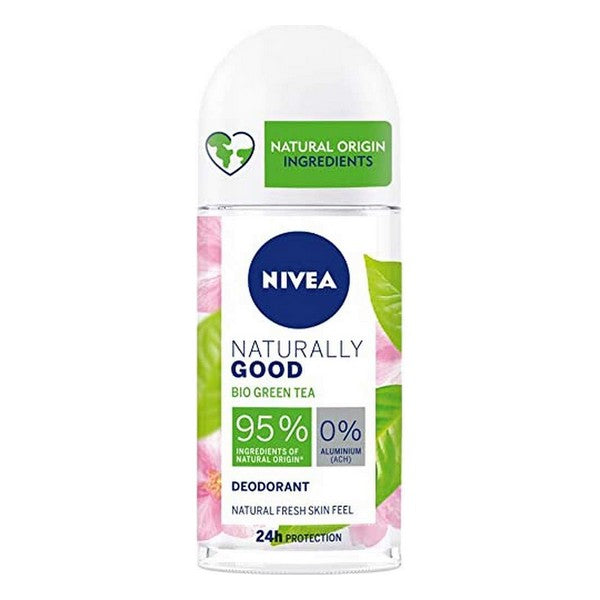 Desodorante Roll-On Naturally Good Nivea Té Verde (50 ml)