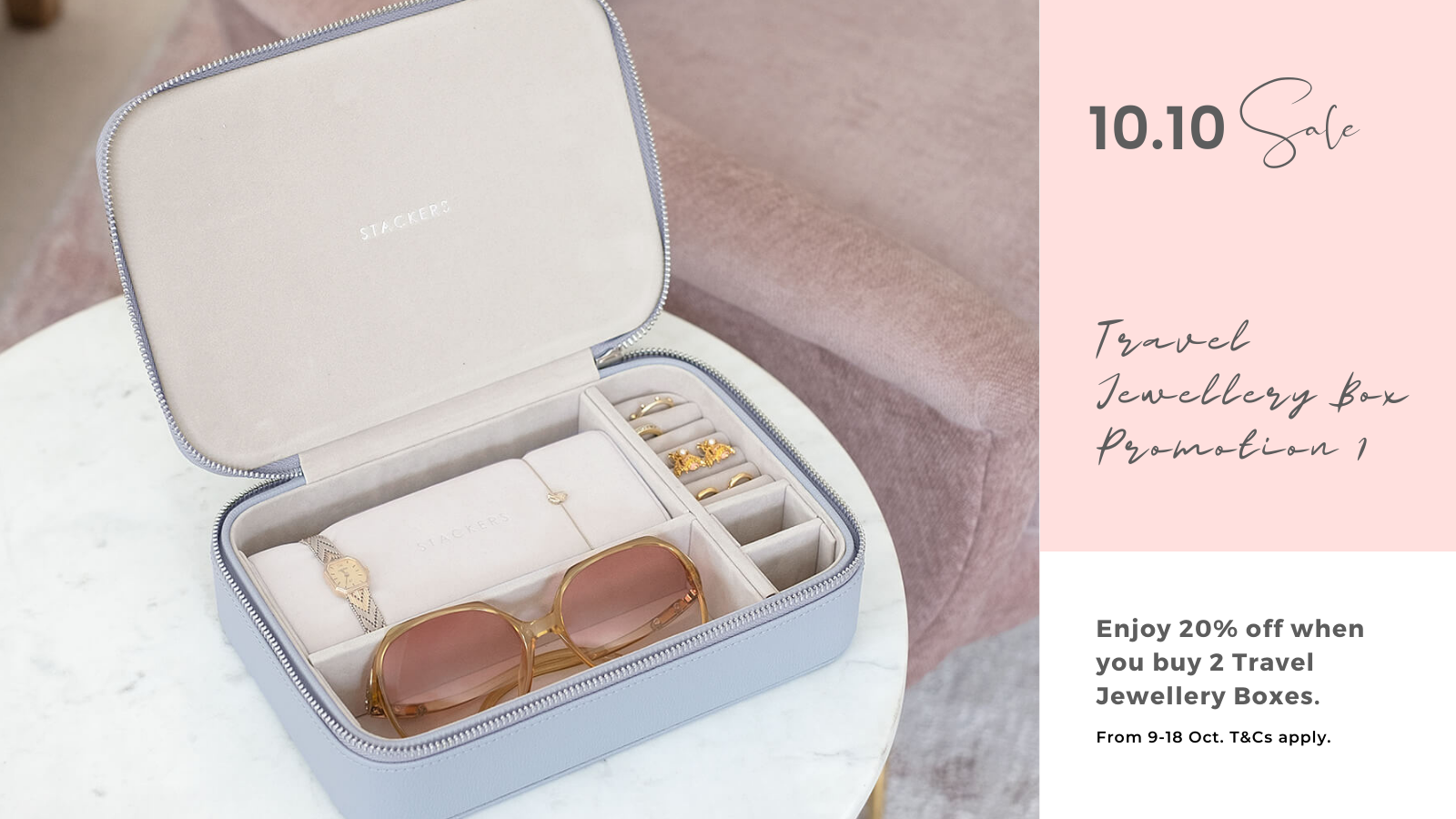 Stackers 10.10 Sale Travel Jewellery Box Promotion 1