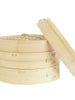 Hand-made Traditional Bamboo Steamer Basket 2 Tier with Lid Set Kitchen Cooking Utensils Tools Fit our 14