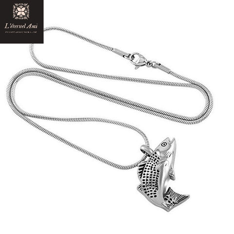 Collier urne poisson