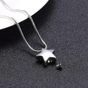 Collier urne animaux star