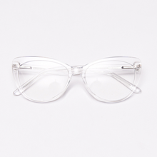 Load image into Gallery viewer, Teek Cat Eye Transparent White