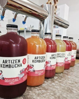 Load image into Gallery viewer, artizen kombucha refillable 1 litre bottles