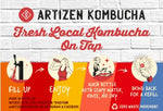 artizen kombucha refillable 1 litre bottles refill process