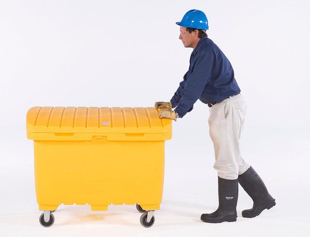 "Ultra Tech 865,Ultra-Utility Box, Yellow, 5"" solid rubber wheels"