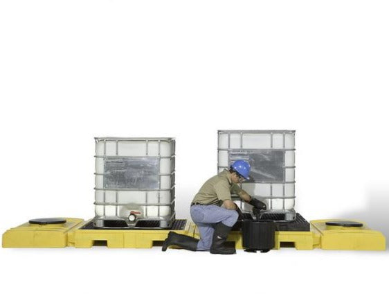 Ultra Tech 1125,Ultra-Modular IBC Spill Pallet, 2-Tank Indoor Model