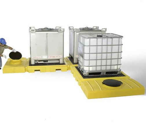 Ultra Tech 1126,Ultra-Modular IBC Spill Pallet, 3-Tank Indoor Model