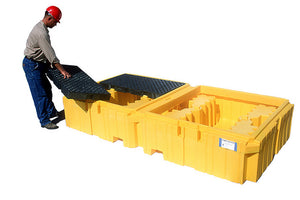Ultra Tech 1144,Ultra-Twin IBC Spill Pallet, with drain