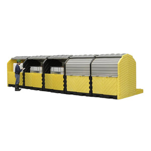 Ultra-Modular IBC Spill Pallet, 5-Tank Outdoor Model