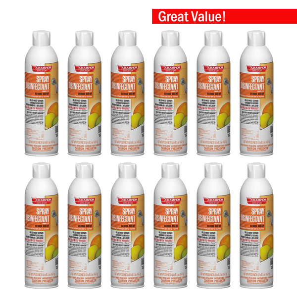 12 count of citrus disinfectant spray cans