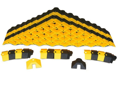 Ultra Tech 1820,Ultra-Sidewinder, small, 24 Ft System with End caps, Black and Yellow