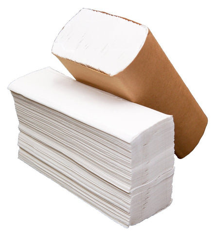 white multifold paper towel rolls