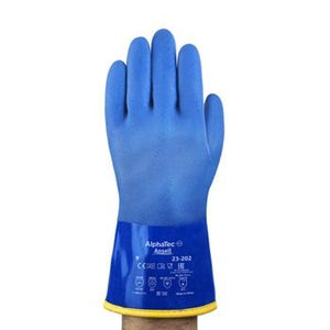 "Ansell 10"" Long Versatouch Cold Condition Gloves 23-202 PVC Chemical Resistant 12/Pack"