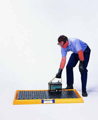 Ultra Tech 2352,Ultra-Containment Tray With Grating, Yellow