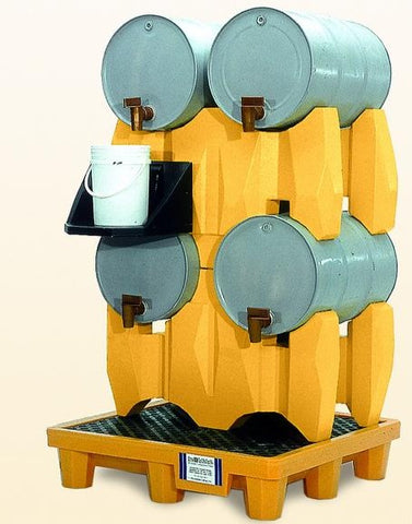 Ultra Tech 2381,Ultra-Drum Rack Containment Systems, 4-Drum System, With Drain