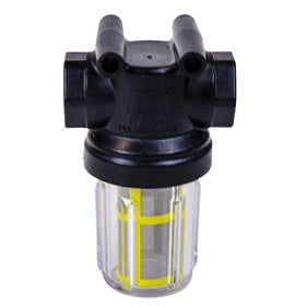 Clear Bowl Strainers with Yellow 80 Mesh Screen