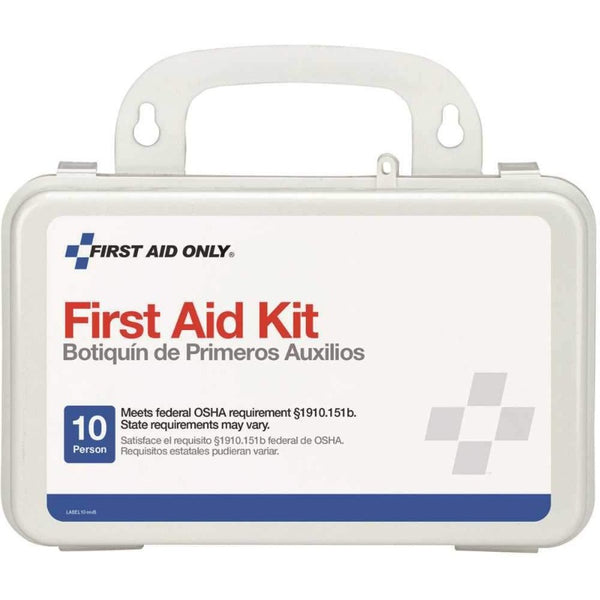 10 Person First Aid Kit, Plastic Case