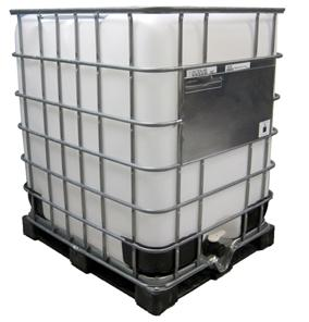 330 Gallon Plastic Tote with Metal Cage