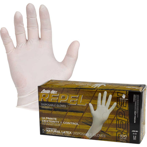 Ambi-Dex Repel Powder Free Latex Gloves 5 Mil 100/Box