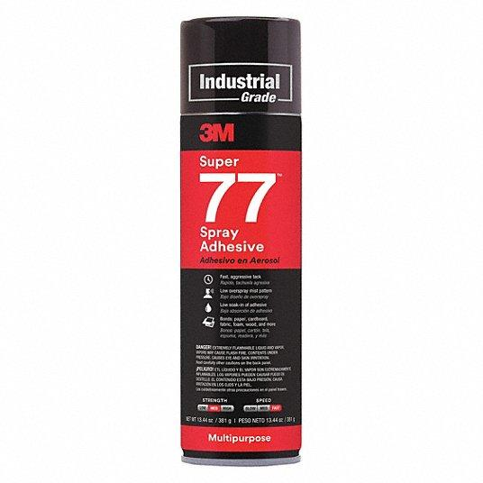 3M Super 77 Spray Adhesive Glue 16.75 Oz. Can 12/Case