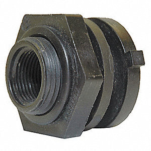 Bulkhead Fitting Fluorinated -3/4""